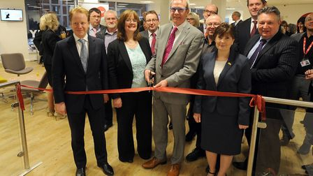 All smiles in 2014: The official opening of the MyGo Youth Employment Centre in Ipswich. Paul Winter