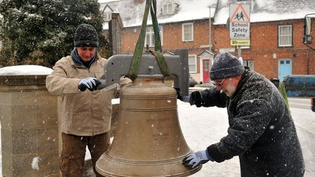 The bells as they were being returned. Picture: SARAH LUCY BROWN