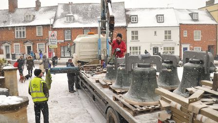 St Margarets Bells have returned to their home to be rehung. Picture: SARAH LUCY BROWN