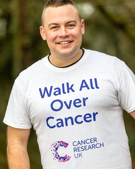 Father-of-two Nat Clarkson is urging others to take part in Cancer Research UK's Walk All Over Cance