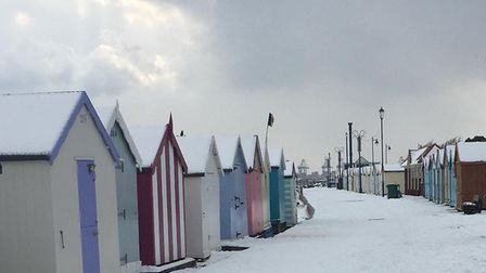 Felixstowe in the Snow. Picture: SUE REEVE
