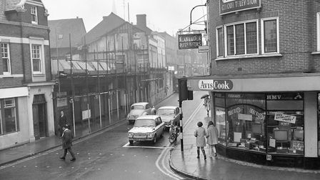 January, 1970, and Underwood and Son Ltd in Upper Brook Street, Ipswich, is being demolished to mak
