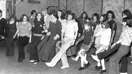 People of all ages joining in a dance marathon for Castle Hill Community Centre. Picture: ARCHANT