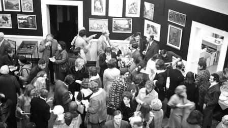 Art students successfully holding an exhibition for their work. Picture: IVAN SMITH