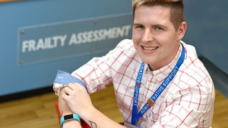 Stewart Taylor, frailty assessment base administrator. Picture: PAGEPIX