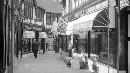 The Walk, Ipswich, was a 1930s shopping concept. It was cut through from Tavern Street to link with