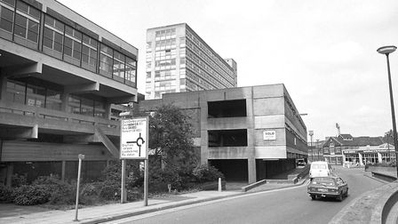 The Greyfriars development, in June 1982, soon before the site was sold for redevelopment. This phot