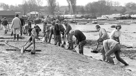 """The """"Grindle Dig"""" at Pin Mill in April 1984. Picture: OWEN HINES"""