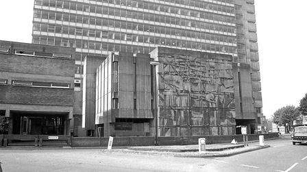 St Francis House now stands on the site in the right foreground of this 1982 view from Princes Stree