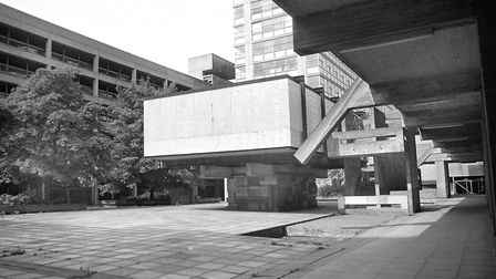 The proposed first floor restaurant, in the centre of the plaza area at Greyfriars, was never occupi