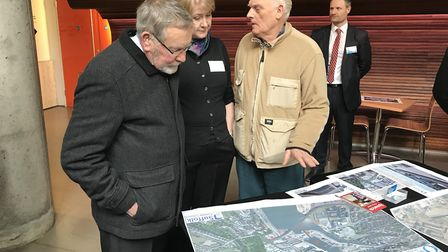 An exhibition and drop-in session on the new Upper Orwell Crossing plans. Picture: NEIL PERRY