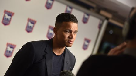 Jermaine Jenas attended the launch to support friend, Kieron Dyer. Picture: GREGG BROWN