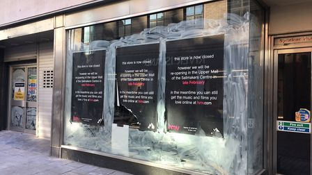 The former HMV site closed in January. Picture: KATY SANDALLS