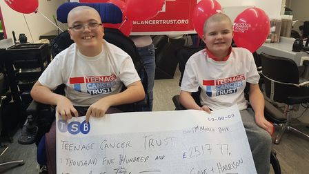 The teenagers have raised a significant amount of money. Picture: REBECCA BELLINGER