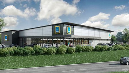 What the proposed Aldi store could look like. Picture: VECTOR