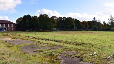 The newly proposed site for the Aldi supermarket in Martlesham Heath. Picture: ARCHANT