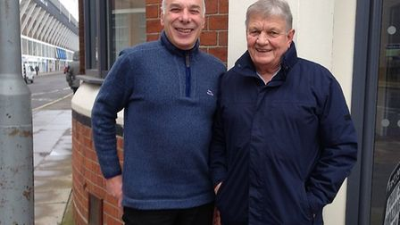 Neil Hamilton (left) and Ralph Meyer, who are reuniting the 70s band Plimsoll Sandwich for a charity