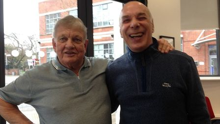 Ralph Meyer (left) and Neil Hamilton, who are reuniting the 70s band Plimsoll Sandwich for a charity
