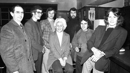Do you recognise anyone in this picture at the Thomas Eldred Pub in 1974?