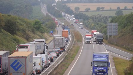 A broken down vehicle on the A14 caused traffic problems this morning. Stock picture: GREGG BROWN