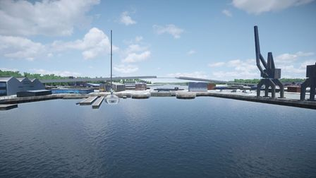 The Upper Orwell Crossings design from the Wet Dock. Picture: SUFFOLK COUNTY COUNCIL
