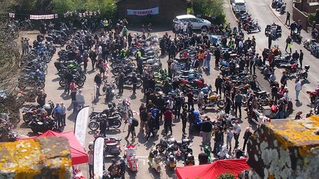 The 11th annual St George's Day Charity Bike Show and Meet at the Bell Inn in Kesgrave. Picture: CHA