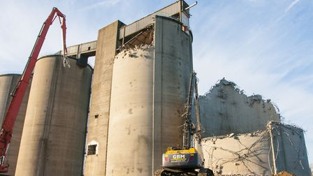 Demolition work at the Sproughton sugar beet factory site. Picture: NICOLE DRURY, IBC