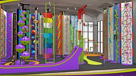 What the Clip n Climb centre in Ipswich could look like. Picture: ENTRE-PRISES/LOUISE RICHARDSON/CLI