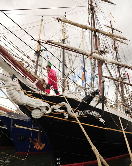 Tall ships from the North Sea Classics Race have arrived in Ipswich. Picture: SARAH LUCY BROWN