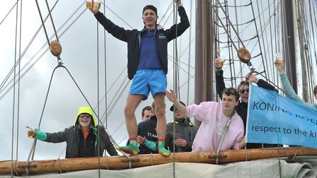 Sailors from The Hague enjoy themselves. Picture: SARAH LUCY BROWN