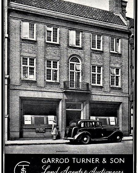 A Garrod Turner advert shows the building well. Picture: IPSWICH SOCIETY