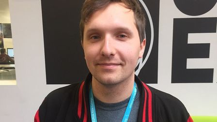 Sam Read, games design lecturer at Suffolk New College, who is up for a BAFTA. Picture: SUFFOLK NEW