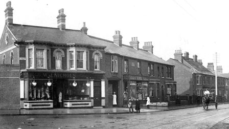 The junction of St Helen's Street and Grove Lane around a century ago. The shop on the left was Will