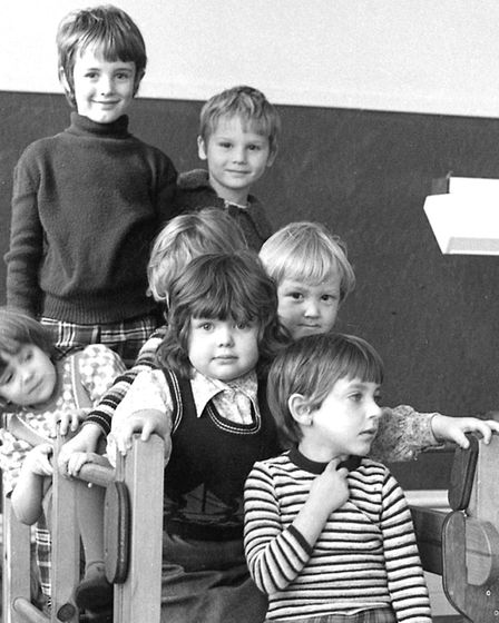 Fun time for infants at St Helen's School, Ipswich, in November 1977. Picture: JERRY TURNER