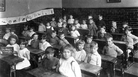There were some very serious faces at St Helen's School, Ipswich, when this photograph were taken ar