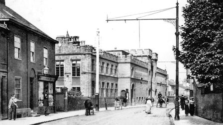 St Helen's Street, Ipswich, and the County Hall around 1910. The building had also been used as a la