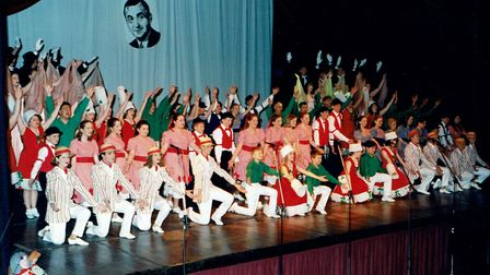 A previous Ipswich Gang Show Ralph Reader celebration. Picture: IPSWICH GANG SHOW
