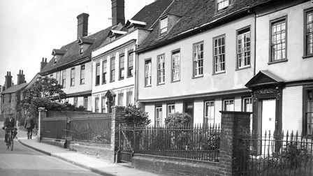 Grimwade Street, Ipswich, from near the junction with Fore Street, in the 1930s. This is one of Ipsw