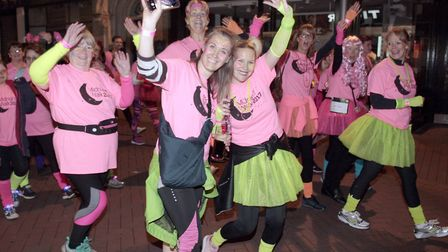 Fundraisers enjoying the 2017 Midnight Walk in Ipswich. Picture: NIGEL BROWN