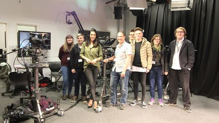 Carrie Watson visits media students at Suffolk New College. Picture: JULIE BEGUM