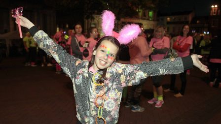 The 2017 walk had a neon theme - this year, it's all about the sparkles, and some more neon. Picture