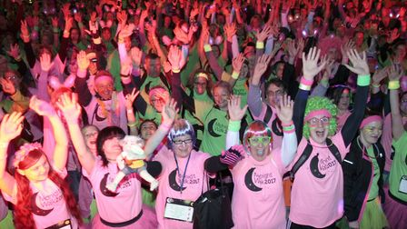 Record numbers turned out for the 2017 Midnight Walk in Ipswich. Picture: NIGE BROWN