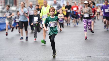 Families running together in the Most Active County children and family wave. Picture: SARAH LUCY B
