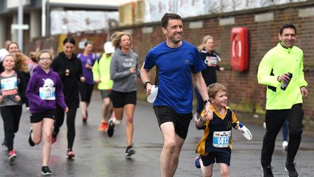Familes enjoy themselves as they take part in the Most Active County wave. Picture: SARAH LUCY BROWN