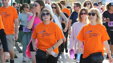 Fundraisers taking on the 2017 Ipswich Defeat Dementia Walk. Picture: GARY DONNISON