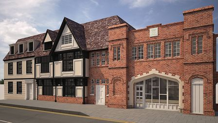 Foundry House, Old Foundry Road, Ipswich a cgi of how it will look after renovation and conversion