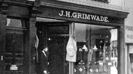 A Victorian photograph of Grimwade's shop in Westgate Street, Ipswich. Picture: COURTESY THE GRIMWAD