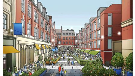 CGI of proposal for Lloyds Avenue Picture: ALLIES AND MORRISON/IPSWICH CENTRAL