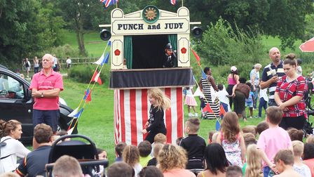 Punch and Judy during a family day out at Holywells Park. Picture: ROSS HALLS