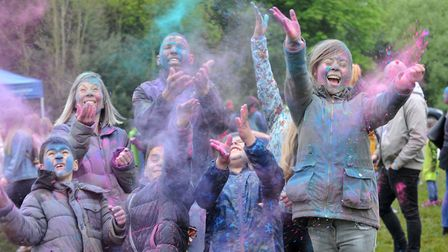 Holi Festival at Holywells Park. Picture: LUCY TAYLOR PHOTOGRAPHY